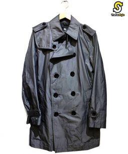 BURBERRY BLACK LABEL(バーバリーブラックレーベル)の古着「ナイロントレンチコート」 グレー