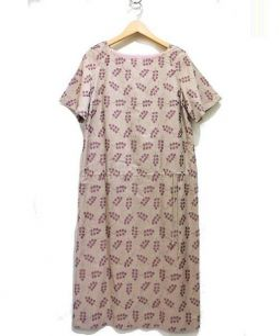 mina perhonen(ミナペルフォネン)の古着「ブラウスワンピース」|ピンクベージュ