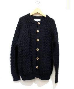 INVERALLAN(インバーアラン)の古着「アランニットカーディガン」|ブラック