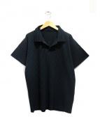HOMME PLISSE ISSEY MIYAKE(オム プリッセ イッセイ ミヤケ)の古着「プリーツシャツ」|ダークグリーン
