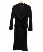 GHITA(ジータ)の古着「ウエストツイストワンピース」|ブラック