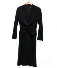 GHITA(ジータ)の古着「ウエストツイストワンピース」 ブラック
