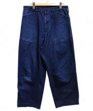 COMOLI(コモリ)の古着「ワイドパンツ」|ブルー
