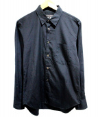 COMME des GARCONS HommePlus(コムデギャルソンオムプリュス)の古着「レギュラーカラーシャツ」|ブラック