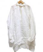 GALLEGO DESPORTES(ギャレゴデスポート)の古着「リネンシャツワンピース」|ホワイト