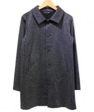 agnes b(アニエスベー)の古着「ラメコート」|ブラック