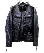 Haruf(ハルフ)の古着「ホースレザージャケット」|ブラック