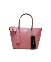 DOLCE & GABBANA(ドルチェアンドガッバーナ)の古着「レザーハンドバッグ」 ピンク