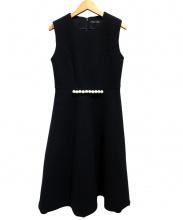 YOKO CHAN(ヨーコチャン)の古着「ウールパールワンピース」 ブラック