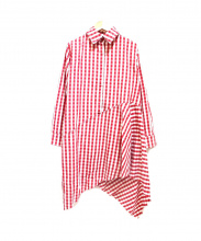 MARQUES ALMEIDA(マルケスアルメイダ)の古着「デザインシャツワンピース」|レッド×ホワイト