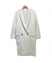 ATON(エイトン)の古着「メルトン2Bチェスターコート」|ホワイト