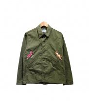 CAL O LINE(キャル オー ライン)の古着「スーベニアミリタリージャケット」|カーキ