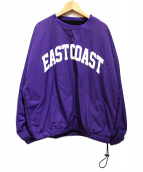 VOTE MAKE NEW CLOTHES(ヴォートメイクニュークローズ)の古着「EAST COAST 2-FACES CREW」|パープル