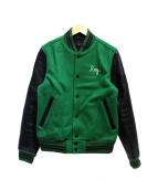 JELADO(ジェラード)の古着「スタジャン」|グリーン×ブラック