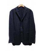 BOGLIOLI(ボリオリ)の古着「リネンテーラードジャケット」|ネイビー