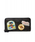 COACH×Disney(コーチ×ディズニー)の古着「ラウンドファスナー長財布」