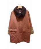 BACCA(バッカ)の古着「袖ファーコート」|ブラウン
