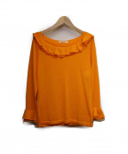 49AV junko shimada(ジュンコシマダ)の古着「フリルニット」|オレンジ