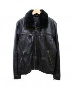 liugoo leathers(リューグーレザーズ)の古着「ボアレザージャケット」