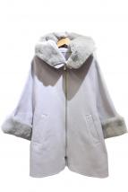 GRACE CLASS(グレースクラス)の古着「レッキスファー襟ケープコート」|グレー