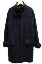 EPOCA(エポカ)の古着「ラメツイードコート」|ネイビー