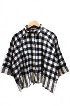 Pero(ペロ)の古着「ウールチェックショートシャツ」|ブラック