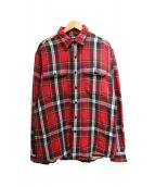 RRL(ダブルアールエル)の古着「チェックネルシャツ」 レッド