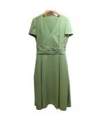 FOXEY NEWYORK(フォクシーニューヨーク)の古着「スレンダードレス」|ライトグリーン