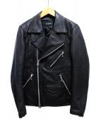 nano・universe(ナノユニバース)の古着「ライダースジャケット」|ブラック