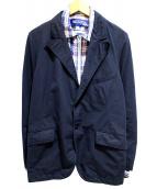 JUNYA WATANABE CdG MAN(ジュンヤワタナベ コムデギャルソン マン)の古着「シャツレイヤードジャケット」|ネイビー