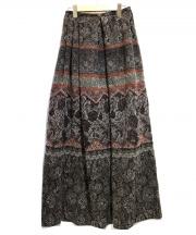 GARY GRAHM(ゲーリー グラハム)の古着「ドッキングロングスカート」|ブラウン