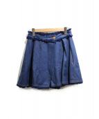 SEE BY CHLOE(シーバイクロエ)の古着「Denim short culottes」|インディゴ
