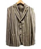 LARDINI(ラルディーニ)の古着「リネン混テーラードジャケット」