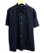 jupe by jackie(ジュップバイジャッキー)の古着「リネン混シャツ」 ブラック