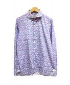 LUIGI BORRELLI(ルイジボレッリ)の古着「花柄シャツ」|パープル