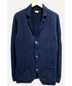 BORRELLI(ボレッリ)の古着「ニットジャケット」 ネイビー