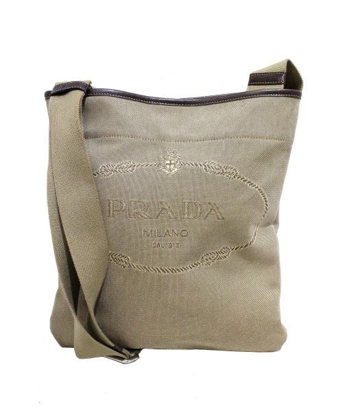PRADA(プラダ)PRADA (プラダ) ロゴキャンバスショルダーバッグ 31 使用感有の古着・服飾アイテム