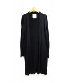 BEARDSLEY(ビアズリー)の古着「ワイドリブロングカーディガン」|ブラック