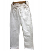 fennica(フェニカ)の古着「ホワイトデニムパンツ」|ホワイト