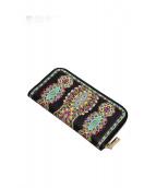ETRO(エトロ)の古着「ラウンドファスナー財布」|ブラック
