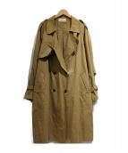 F.DOM(エフダム)の古着「袖ギャザートレンチコート」 ベージュ