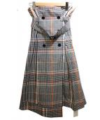 FRAY ID(フレイアイディー)の古着「トレンチプリーツスカート」|アイボリー