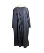 martinique(マルティニーク)の古着「ノーカラーコート」|ブラック
