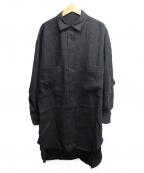 Munich(ミューニック)の古着「ウールリネンビッグシャツ」|ブラック