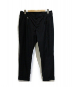 uniform experiment(ユニフォーム エクスペリメント)の古着「2タックパンツ」 ブラック