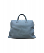 hinn(ヒン)の古着「レザーハンドバッグ」|ライトブルー