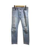 LEVIS VINTAGE CLOTHING(リーバイス ヴィンテージ クロージング)の古着「カスタムデニムパンツ」 ライトブルー