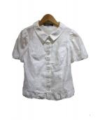 MS GRACY(エムズグレイシー)の古着「半袖ブラウス」|ホワイト