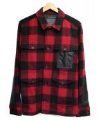 COACH(コーチ)の古着「切替シャツジャケット」|レッド×ブラック