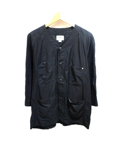 THE CRIMIE(ザクライミー)THE CRIMIE (ザ クライミー) JOE MILITARY 7th SLEEVE SHIRT ブラック サイズ:L 定価16.000円+税の古着・服飾アイテム